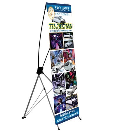 BANNERS: With stands and without. ANY SIZE.